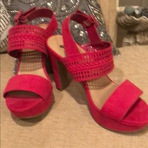 Brash Hot pink heels